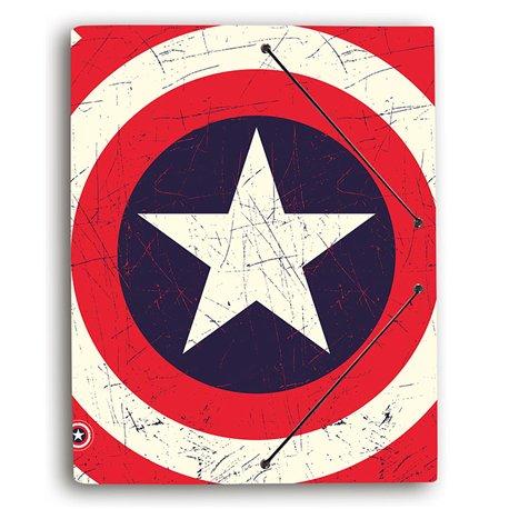 Carpeta Gomas con solapa Capitán América