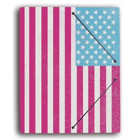 Carpeta Gomas con Solapa Bandera USA