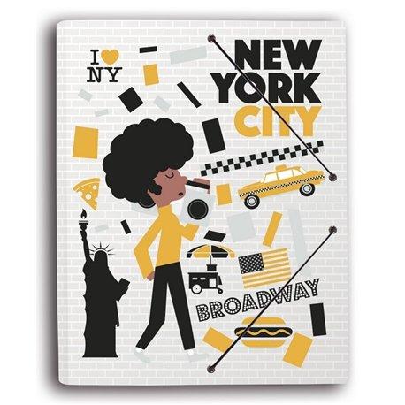 Carpeta Gomas con solapa Nueva York Colores