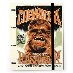 Carpeta 4 Anillas troquelada Star Wars Chewbacca