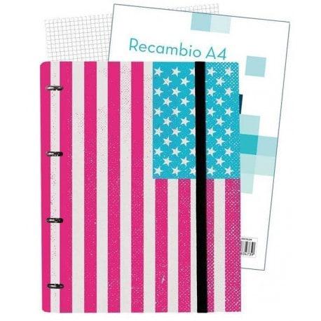 Carpeblock 4 Anillas Premium Bandera USA