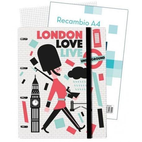 Carpeblock 4 Anillas Premium Colores de Londres
