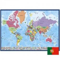 Vade de Escritorio Escolar Mapa del Mundo (Portugués)