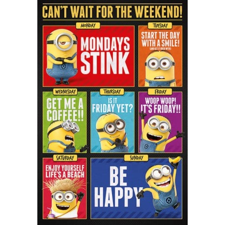 Maxi Poster Minions 3 Cant Wait For The Weekend