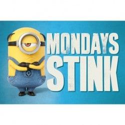 Maxi Poster Minions 3 Mondays Stink