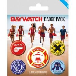 Pack de Chapas Baywatch Salvavidas