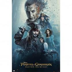 Poster Piratas del Caribe Los muertos no cuentan historias