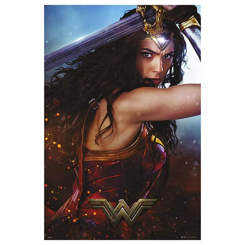 Poster wonder woman sword for Puerta wonder woman