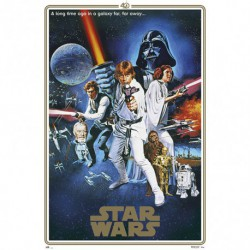 Poster Star Wars 40 Aniversario One Sheet B