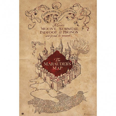 Poster Harry Potter The Marauders Map