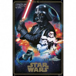 Poster Star Wars 40 Aniversario Villains