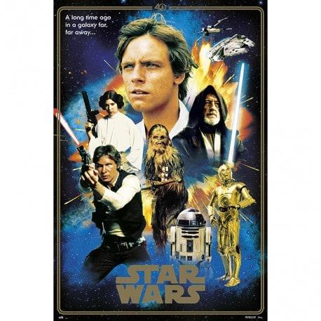 Poster Star Wars 40 Aniversario Heroes