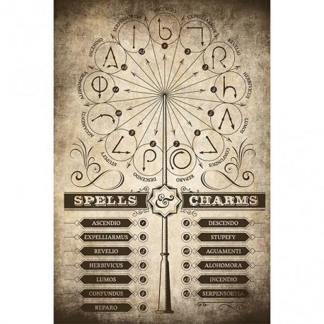 Poster Harry Potter Hechizos y Encantamientos