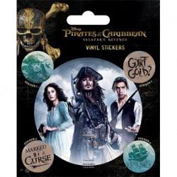 Pegatina Piratas del caribe (Capitan Jack Sparrow)