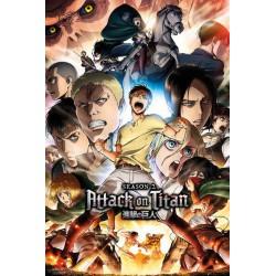 Poster Ataque de Titanes Temporada 2 Collage Key Art