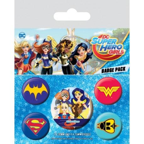 Pack de Chapas DC Logos de Superheroes