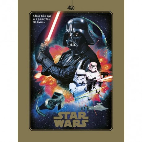 Lámina Star Wars 40 Aniversario Villanos