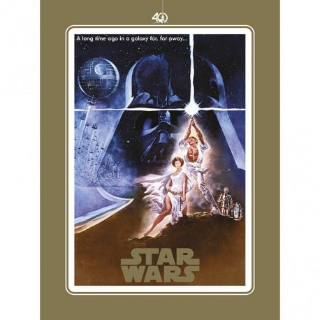 Lámina Star Wars 40 Aniversario One Sheet A
