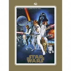 Lámina Star Wars 40 Aniversario One Sheet B