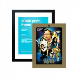 Lámina Star Wars 40 Aniversario Heroes + Marco