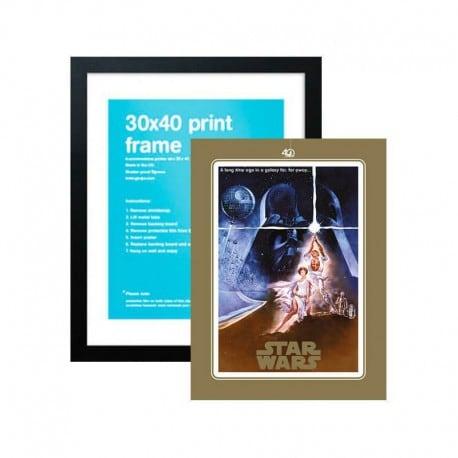 Lámina Star Wars 40 Aniversario One Sheet A + Marco