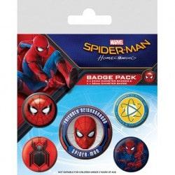 Pack de Chapas Spider-Man Homecoming