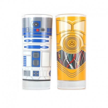 Pack de vasos Star Wars (R2D2 & C3PO)