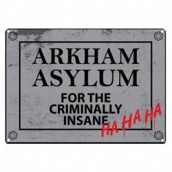 Placa metálica pequeña Batman (Asylum)