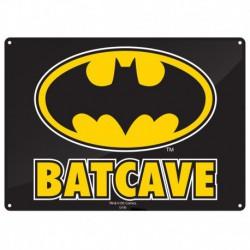 Placa metálica pequeña Batman (Batcueva)