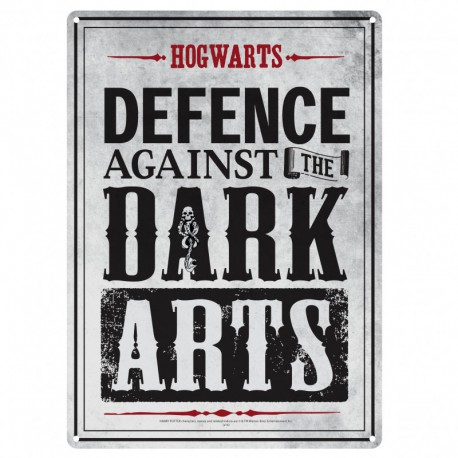 Placa metálica pequeña Harry Potter (Artes Oscuras)