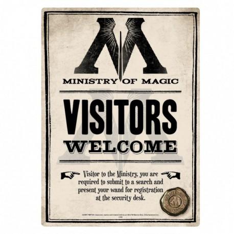 Placa metálica pequeña Harry Potter (Ministerio de Magia)