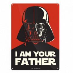 Placa metálica pequeña Star Wars