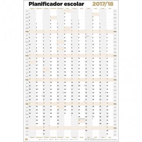 Poster Planificador Escolar 2017/2018 Vertical