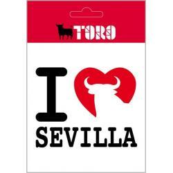 Pegatina Vinilo I Love Sevilla