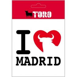 Pegatina Vinilo I Love Madrid