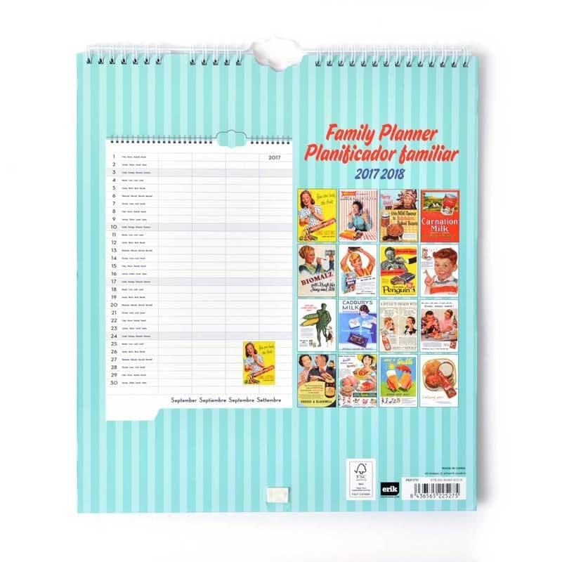 Planificador familiar 2017 2018 cocina retro for Planificador cocinas
