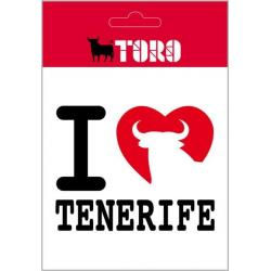Pegatina Vinilo I Love Tenerife