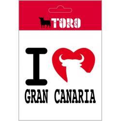 Pegatina Vinilo I Love Gran Canaria