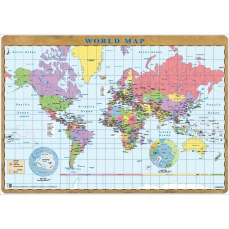Vade Protector de Escritorio World Map