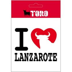 Pegatina Vinilo I Love Lanzarote