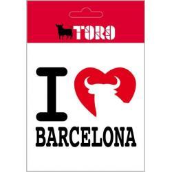 Pegatina Vinilo I Love Barcelona