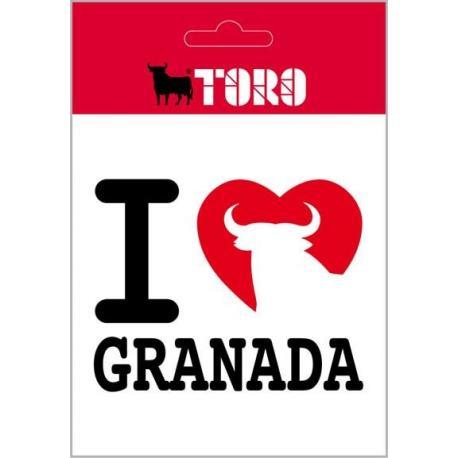 Pegatina Vinilo I Love Granada