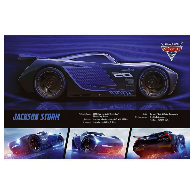 poster cars 3 jackson storm. Black Bedroom Furniture Sets. Home Design Ideas