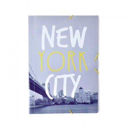Carpeta Gomas A4 Polipropileno Nueva York