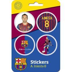 Pegatina F.C. Barcelona Andres Iniesta