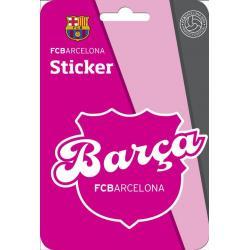Pegatina Laser Fcb Barcelona Escudo Rosa