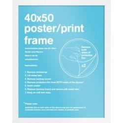 Marco Mini Poster Blanco (40 x 50 cm)