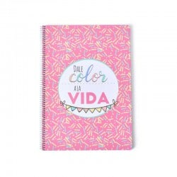Cuaderno Tapa Dura A4 Amelie Classic Rosa
