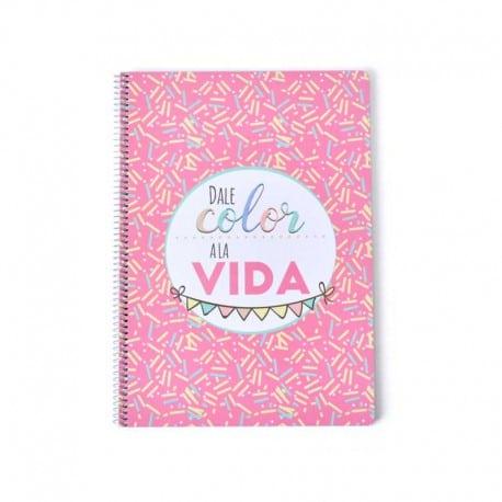 Cuaderno Tapa Dura A4 Amelie Classic Rosa