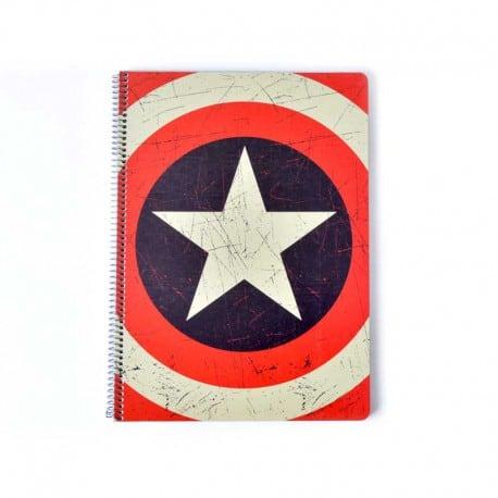 Cuaderno Tapa Dura A4 Marvel Capitán América